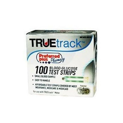 Kpp Blood Glucose Test Strips Preferred Plus Pharmacy True Track Blood Glucose Test Strips - 100 Ea
