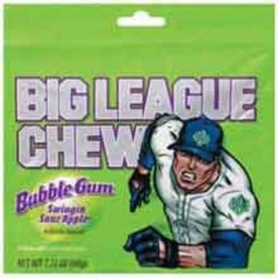 Ford Gum Big League Sour Apple Bubble Chew Gum, 12 per pack -- 9 packs per case.
