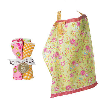 Test NURSING COVER AND BURP CLOTH SET SHERBET