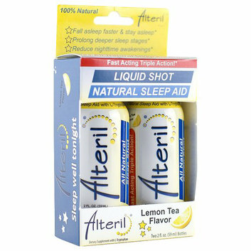 Alteril Lemon Tea Flavor Natural Sleep Aid Liquid Shot