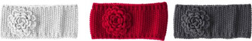 Gifted Living Bold Style Knit Flower Headbands Set Of 3
