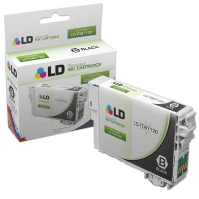 LD Remanufactured Replacement for Epson T087120 (T0871) Black Inkjet Cartridge for use in Epson Stylus Photo R1900 Printers