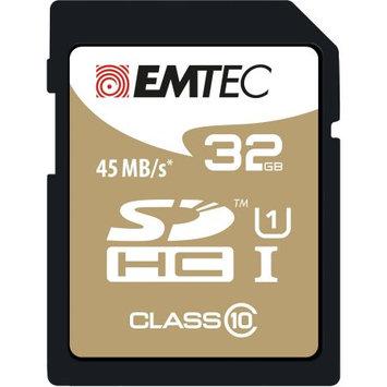 Dexxxon Digital Storage Emtec - 32GB Sdhc Class 10 Memory Card - Dark Blue/gold