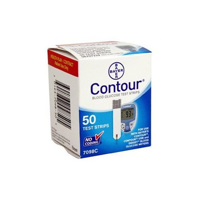 Bayer Contour Glucose Test Strips - 50 ct.
