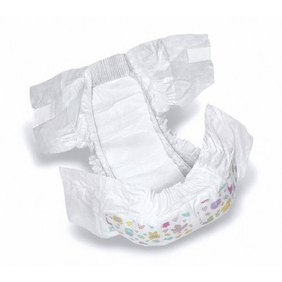 Medline Dry Time Disposable Baby Diapers Case of 160 Fits 22-35 lbs