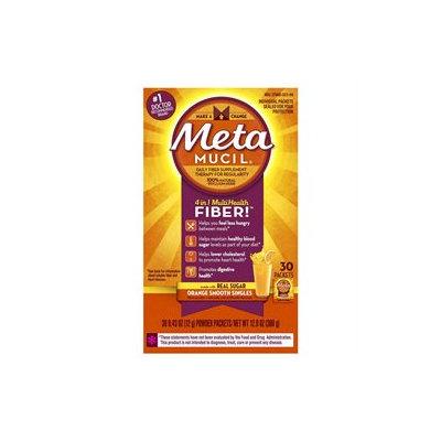 Metamucil Laxative Powders Metamucil Fiber Singles Texture Powder, Orange, 30 ea