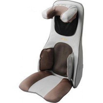 Maztang 3D Shiatsu Massage Cushion Massager with Heat, Neck and Shoulder, Creme