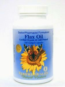 Flax Oil (Cert. Organic)1000 mg 100 gels by Verified Quality