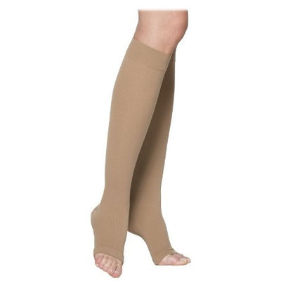 Sigvaris Cotton 233CSLO66 30-40 mmHg Open Toe Socks Crispa - Small Long