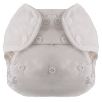 Blueberry Coveralls Diaper Snap, White (Discontinued by Manufacturer)