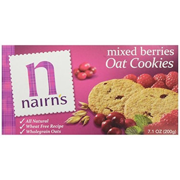 Nairns Nairn's Oat Biscuits, Mixed Berries, 7.1-Ounce Boxes (Pack of 6)