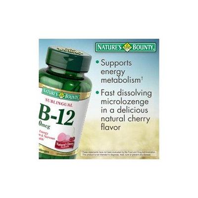 Sublingual Vitamin B-12 2500 mcg - Cherry Flavor, 250 Microlozenges, Nature's Bounty