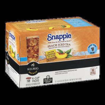 Snapple Keurig K-Cup Packs Peach Iced Tea - 12 CT