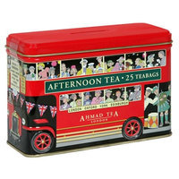 Ahmad Tea London Bus Tin, English Afternoon, 25-Count Tin (Pack of 4)