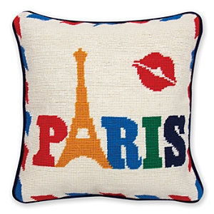 Jonathan Adler Paris Jet Set Needlepoint Pillow - 1 ct.