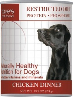 Dave's Pet Food Dave's Restricted Diet Protein Phosphorus Chicken Dinner Canned Dog