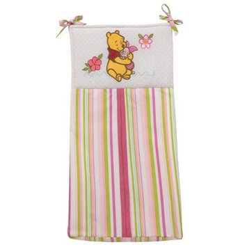 Disney Pooh Sweet Pooh Diaper Stacker, Pink/White (Discontinued by Manufacturer)