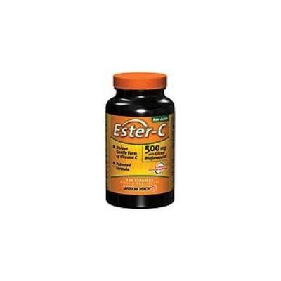 American Health Ester C 500 mg with Citrus Bioflavonoids (Non-acidic Vitamin C with Quick Absorption and Maximum Retention and Gentle on the Stomach) 120 Capsules