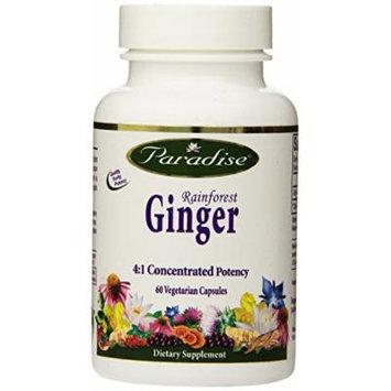 Paradise Herbs Rainforest Ginger 2.5% Gingerols Vegetarian Capsules, 60 Count