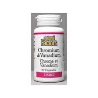 Chromium 100mcg & Vanadium 25mcg (90Capsules) Brand: Natural Factors