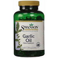 Swanson Garlic Oil Equivalent to 1,500 mg 500 Sgels