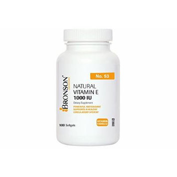 Natural Vitamin E - 1000 I.U. 100 Softgels