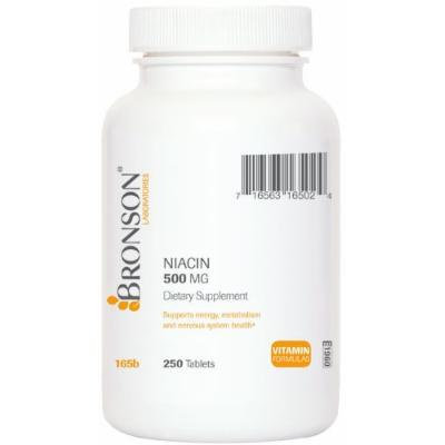 Bronson Labs: Niacin - 500 Mg. (250 Tablets) One Tablet Per Day