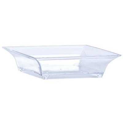 King Zak Ind Lillian Tablesettings 64542 Mini Clear Plastic Square Footed Dish - 288 Per Case