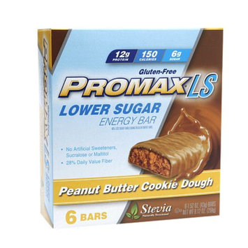 Promax Nutrition Lower Sugar 12g Protein Energy Bars, Peanut Butter Cookie Dough, 6 ea