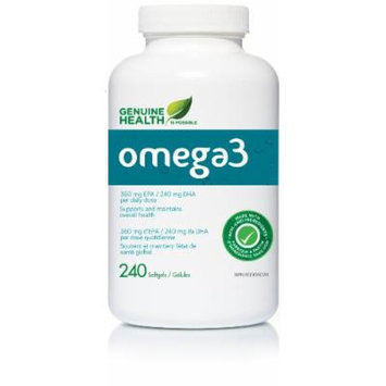 o3mega -triple fish oil -Wild Raised -Enteric Coated (240Capsules) Brand: Genuine Health