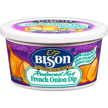 Bison Reduced Fat French Onion Dip, 12 oz