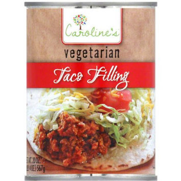 Caroline's Vegetarian Taco Filling, 20 oz, (Pack of 12)