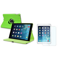Insten INSTEN Green 360 Rotating Leather Case Cover+LCD Protector For Apple iPad Air 5 5th Gen