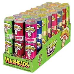 Impact Warheads Super Sour Spray Candy, 0.68 oz, 24 ct