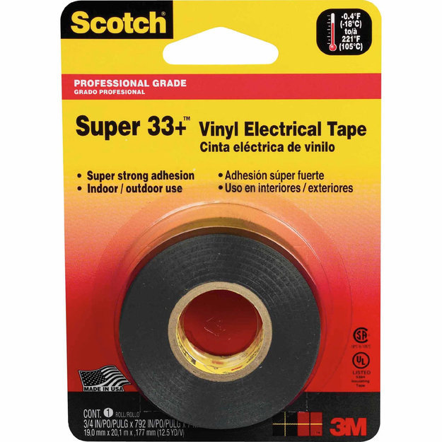 """Scotch 33"""" Electrical Tape, 3/4 in. x 450 in. - 3M COMPANY"""