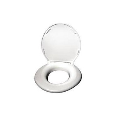 Big John Products 2445646-1W Toilet Seat with Cover - White