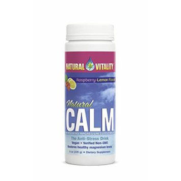 Natural Vitality Natural Calm Diet Supplement, Raspberry Lemon, 8 Ounce