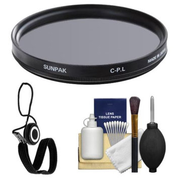 Sunpak 40.5mm Circular Polarizer Glass Filter with Kit for Nikon 1 Interchangeable Lens Digital Camera with 10mm f/2.8, 30-110mm VR & 10-30mm Lens