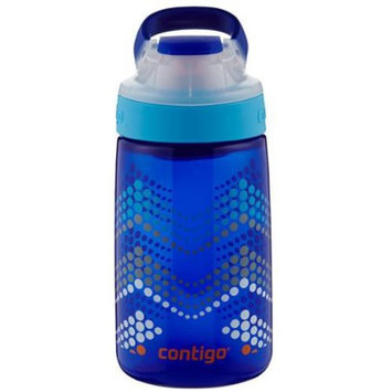 Contigo 14 oz. Kids Gizmo Autoseal Water Bottle - Sapphire Bubble Chevron