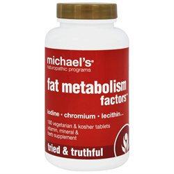 Michaels Naturopathic Programs Michael's Naturopathic Programs Fat Metabolism Factors, Veggie Tabs, 180 ea