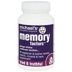 Michael's Health Products Memory Factors - 90 Tablets - Brain & Memory Support