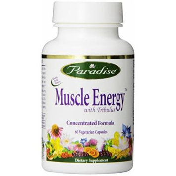 Paradise Herbs Muscle Energy Vegetarian Capsules, 60 Count