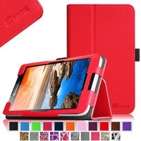 Fintie Lenovo IdeaTab A7-30 7-Inch Android Tablet Folio Case - Premium Leather Cover Stand With Stylus Holder, Red