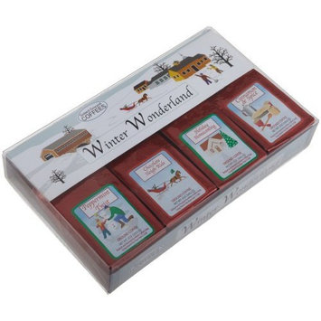 White House Coffee White Coffee Winter Wonderland 4-Holiday Flavors Ground Coffee Gift Sets (Pack of 2)