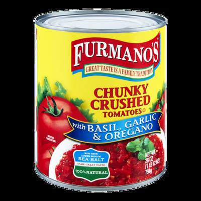 Furmano's Basil, Garlic & Oregano Chunky Crushed Tomatoes