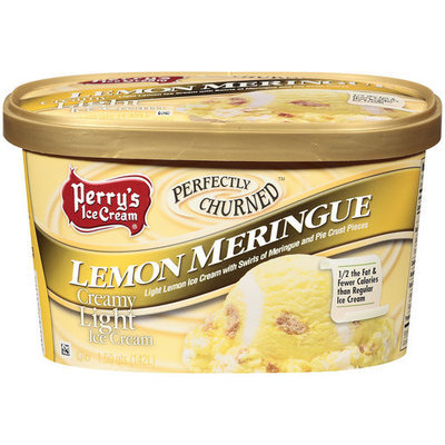 Perry's Ice Cream Perfectly Churned Lemon Meringue Creamy Light Ice Cream, 1.5 qt