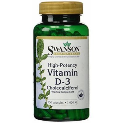 High Potency Dry Vitamin D-3 1,000 Iu 250 Caps