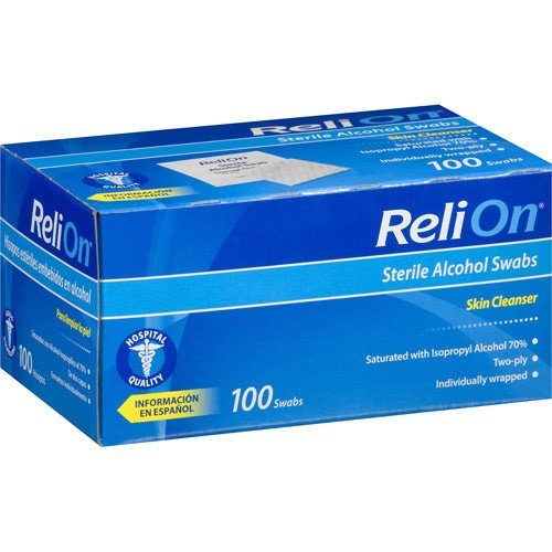 ReliOn Sterile Alcohol Swabs, 100 count