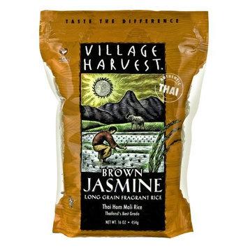 Village Harvest Long Grain Fragrant Brown Jasmine Rice, 16 oz