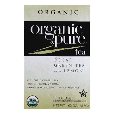 Organic & Pure Organic and Pure Decaf Green Tea With Lemon, - Pack of 6